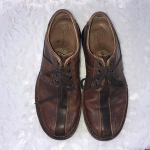 Clark's size 10 leather shoes